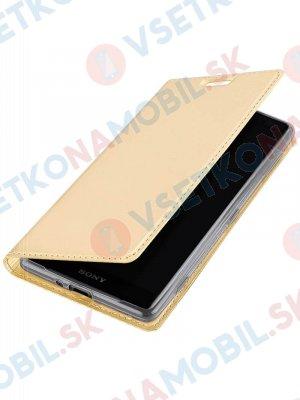 DUX Peňaženkový kryt Sony Xperia XZ2 Compact zlatý