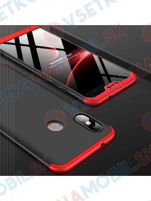 360 ° Ochranný kryt Xiaomi Mi A2 Lite černo-červený