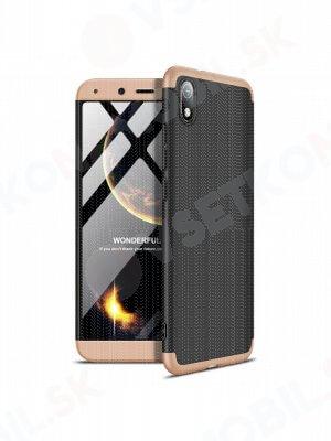 360 ° Ochranný kryt Xiaomi Redmi 7A černý-zlatý