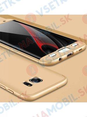 360 ° Ochranný kryt Samsung Galaxy S7 Edge zlatý