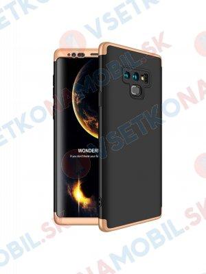 360 ° Ochranný kryt Samsung Galaxy Note 9 černo-zlatý