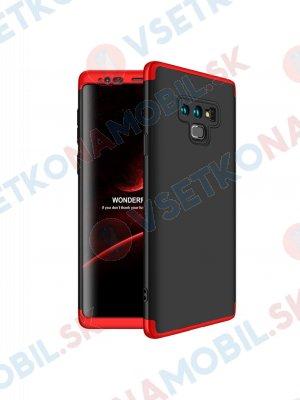360 ° Ochranný kryt Samsung Galaxy Note 9 černo-červený