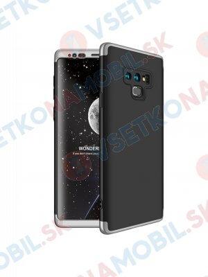 360 ° Ochranný kryt Samsung Galaxy Note 9 černo-stříbrný