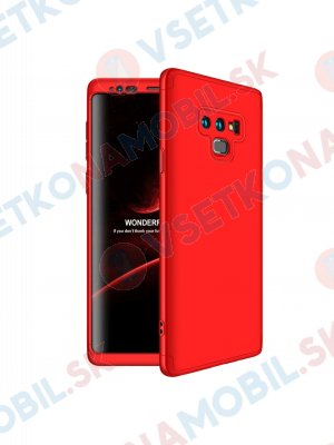 360 ° Ochranný kryt Samsung Galaxy Note 9 červený