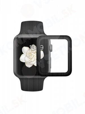 Tvrdené ochranné sklo Apple Watch 1 / 2 / 3 42 mm čierne