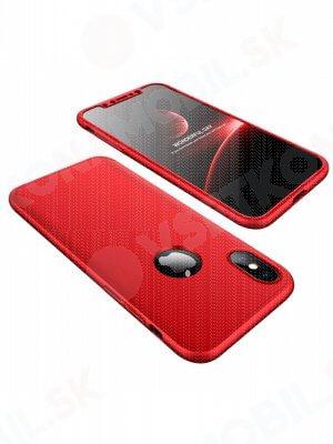 360 ° Ochranný obal Apple iPhone X / XS červený