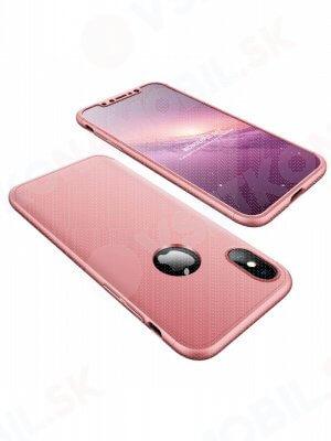 360 ° Ochranný obal Apple iPhone X / XS růžový