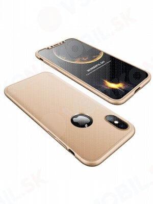 360 ° Ochranný obal Apple iPhone X / XS zlatý