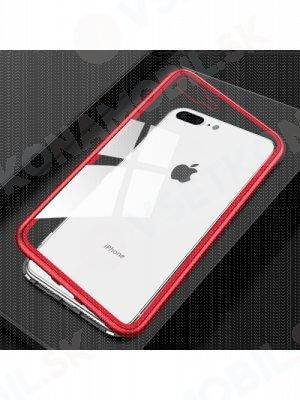 Ochranný magnetický obal Apple iPhone 7 Plus / iPhone 8 Plus červený