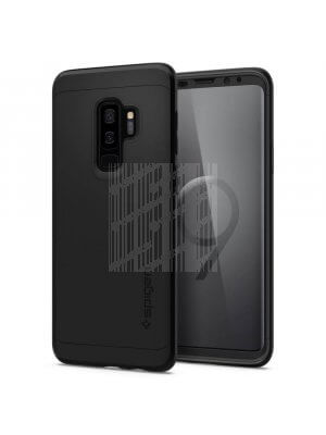 SPIGEN THIN FIT 360 ° obal + 9H Ochranné sklo Samsung Galaxy S9 Plus černý