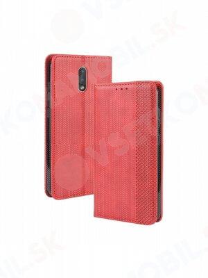 BUSINESS Peňaženkový obal Nokia 2.3  červený