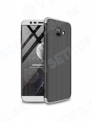 360 ° ochranný obal Samsung Galaxy J4 Plus (J415) černý (stříbrný)