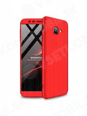 360 ° ochranný obal Samsung Galaxy J4 Plus (J415) červený