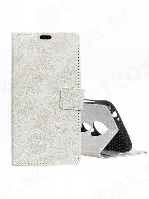 RETRO Peňaženkový obal Motorola Moto G7 Play bílý