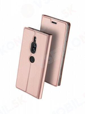 DUX Peňaženkový obal Sony Xperia XZ2 Premium růžový