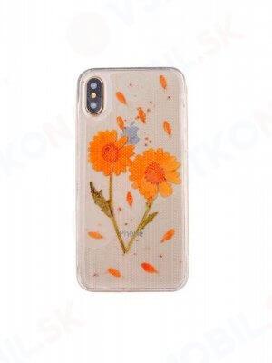 3D FLOWER Silikonový obal Apple iPhone X / XS (1)