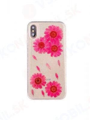 3D FLOWER Silikonový obal Apple iPhone X / XS (6)