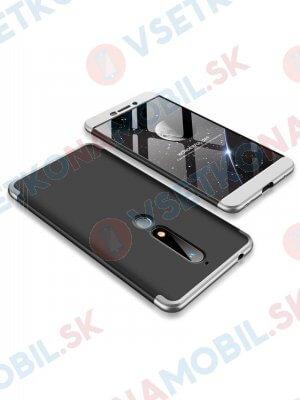 360 ° Ochranný obal Nokia 6.1 černý (stříbrný)
