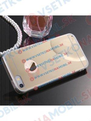 Zrcadlový silikonový obal iPhone 4 / 4S zlatý