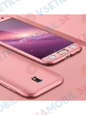 360 ° Ochranný obal Samsung Galaxy J7 2017 (J730) růžový