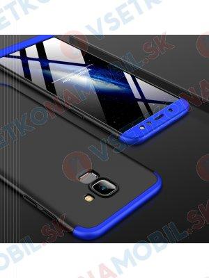 360 ° Ochranný kryt Samsung Galaxy A6 (A600) černý (modrý)