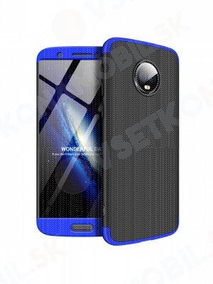 360 ° Ochranný obal Motorola Moto G6 černý (modrý)