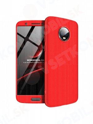 360 ° Ochranný obal Motorola Moto G6 červený