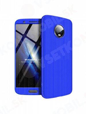 360 ° Ochranný obal Motorola Moto G6 modrý