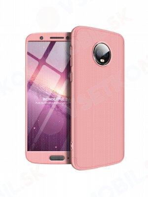 360 ° Ochranný obal Motorola Moto G6 růžový
