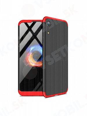 360 ° Ochranný obal Honor 8A černý-červený
