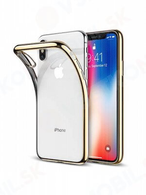 METALLIC Silikonový Obal Apple Iphone X zlatý