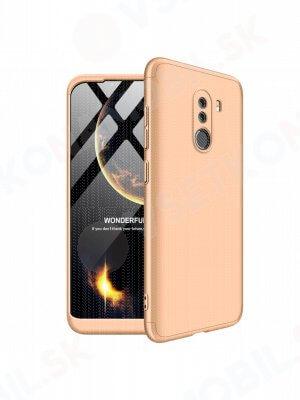 360 ° Ochranný obal Xiaomi Pocophone F1 zlatý