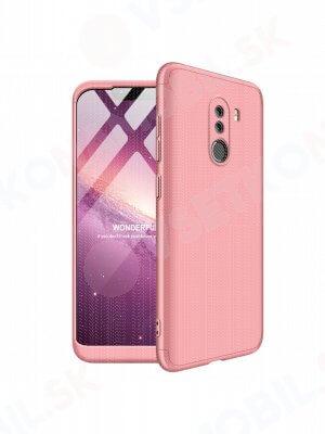 360 ° Ochranný obal Xiaomi Pocophone F1 růžový