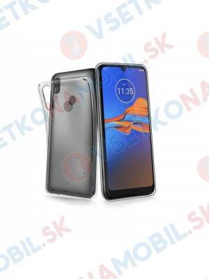 Silikonový obal Motorola Moto E6 Plus průhledný