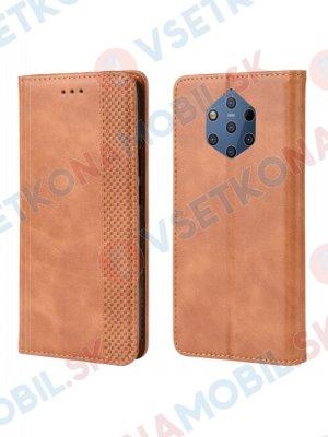 BUSINESS Peňaženkový obal Nokia 9 PureView hnědý