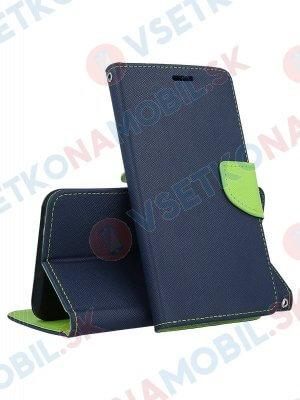 FANCY Peňaženkový obal HTC U12 modrý