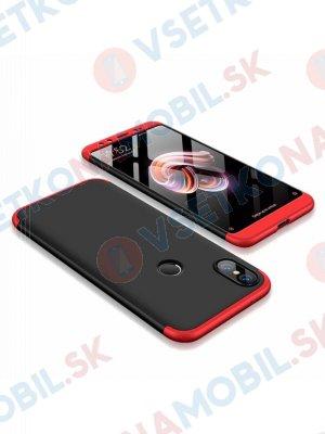 360 ° Ochranný obal Xiaomi Mi 6X / Mi A2 černý (červený)