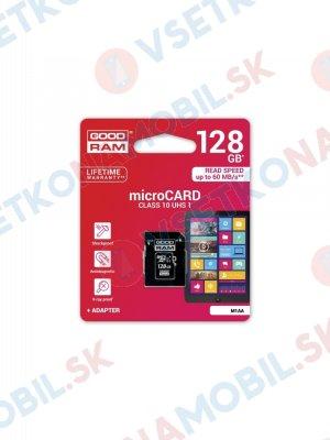 Paměťová karta GOODRAM microSDHC 128GB UHS-I + adaptér (M1AA-1280R11)
