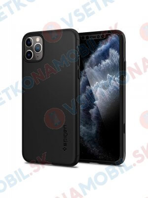 SPIGEN THIN FIT 360 ° obal + 9H sklo Apple iPhone 11 Pro Max černý