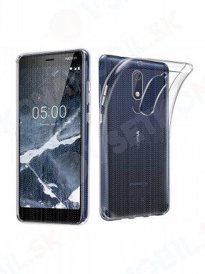 Silikonový obal Nokia 5.1 průhledný