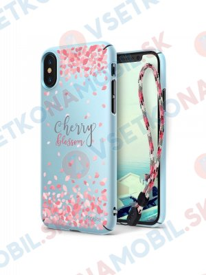 RINGKE CHERRY BLOSSOM obal Apple iPhone X / XS modrý
