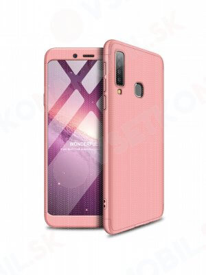360 ° ochranný obal Samsung Galaxy A9 2018 růžový