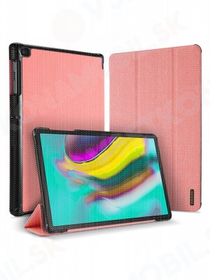 DUX DOMO zaklapovací obal Samsung Galaxy Tab S5E (T720 / T725) růžový
