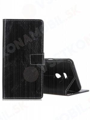 RETRO Peňaženkový obal LG G8s ThinQ černý