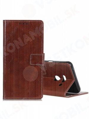 RETRO Peňaženkový obal LG G8s ThinQ hnědý