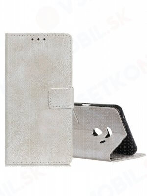 RETRO Peňaženkový obal LG G8s ThinQ bílý