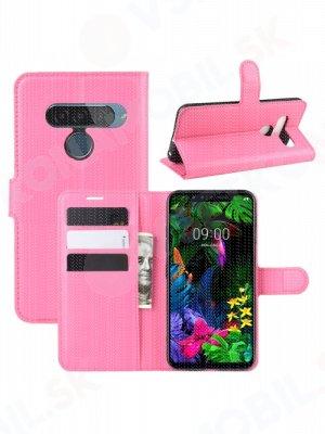 Litchi Peňaženkové pouzdro LG G8s ThinQ růžové