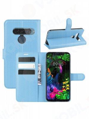 Litchi Peňaženkové pouzdro LG G8s ThinQ modré