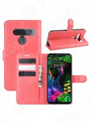 Litchi Peňaženkové pouzdro LG G8s ThinQ červené