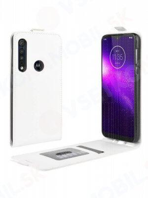 Vyklápěcí pouzdro Motorola Moto G8 Play / One Macro bílé